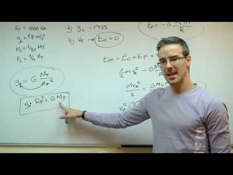 FISICA Gravedad y Velocidad de Escape 2ºBACHI unicoos gravitacion universal Newton