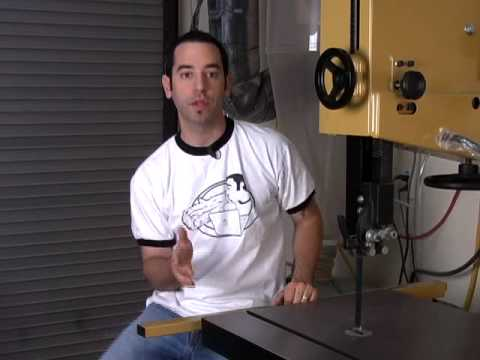 Woodworking 13 - Bandsaw Setup/Tuneup