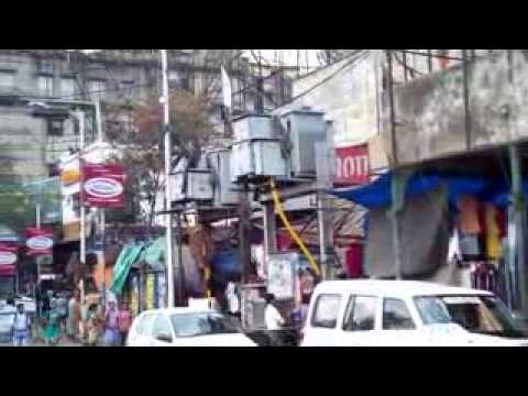 kolkata Road side video clip in a busy hour with real car & public nice video clip  clip2