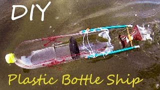 How To Make Rubber Band Powered Ship Made From Plastic Bottle - Rupoti DIY Videos