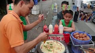 Ba gác máy bán bánh kép Thái Lan dạo thu hút đông khách   Thai crepes in Vietnam