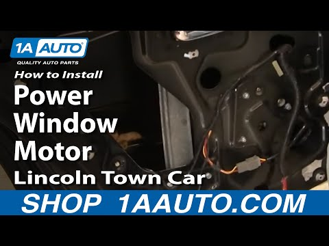 How To Install Repair Replace REAR Power Window Motor Lincoln Town Car 98-02 1AAuto.com