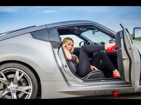 Nissan 370z NITRO vs drifting fast driving girl: Lady Fairlady Z