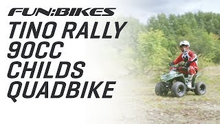 Action Video: FunBikes Tino Rally 90cc Childs Quad Bike