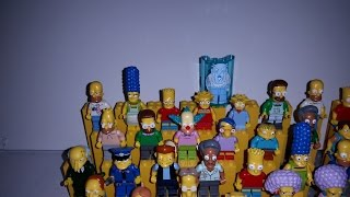 Lego Simpsons Complete Minifigure Collection of all 45 figures as of June 2015