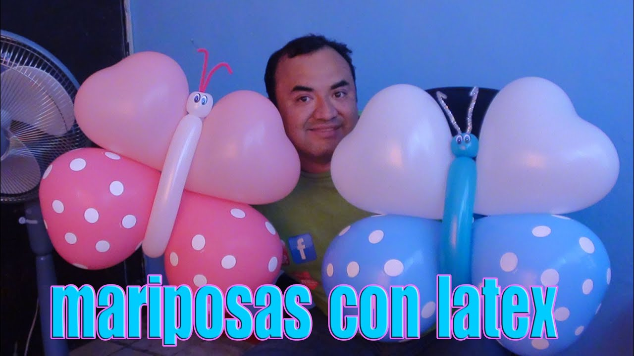 Mariposas con globos chasty youtube - Decoracion con mariposas ...