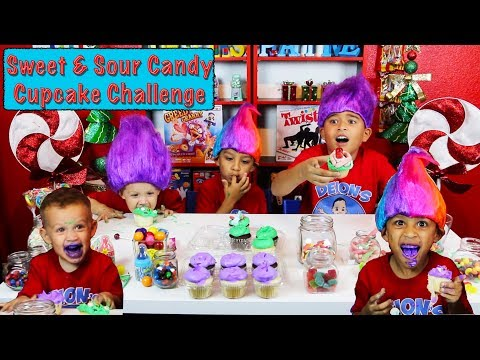 Sweet and Sour Candy Cupcake Challenge