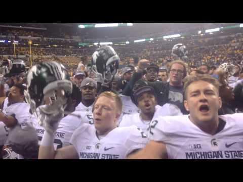 Michigan State Fight Song Post Game 2015 B1G Championship
