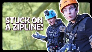 ZIP LINE FAIL *I got stuck* | Sophie Fergi