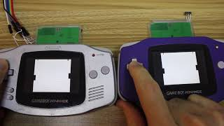 2 Player Pong using 2x Gameboy Wireless Controller Carts