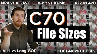 C70 Settings to NEVER Use | All Recording Options & File Sizes