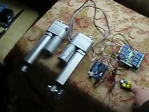 Control linear actuator with arduino
