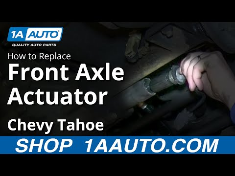 How To Install Repalce Front 4x4 Axle Actuator 1995-99 Chevy Tahoe GMC Yukon