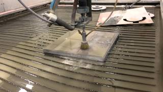 Roughing a Mold Base on the Water Jet
