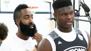 James Harden watches Zion Williamson have a PERFECT GAME DESTROYING OPPONENTS!