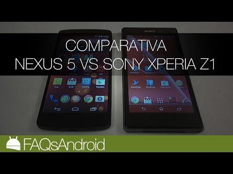 Comparativa Nexus 5 vs Sony Xperia Z1   FAQsAndroid.com