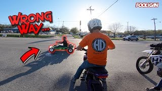 Kid Rips Go-Kart in the Street | Stole Sean's Grom