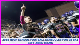 Michgan News | 2018 high school football schedules for 28 Bay City-area teams