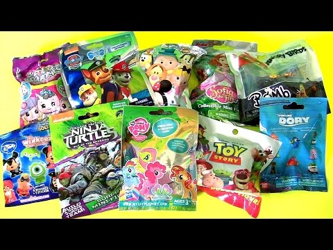 Blind Bags Collection Paw Patrol Squinkies TMNT Wikkeez MLP Sofia Dory Toy Story toys by Funtoys