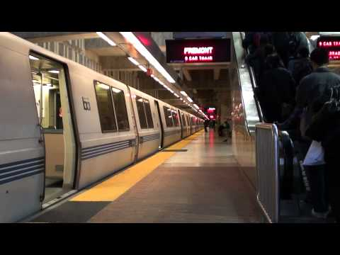 Fremont Train Arriving at Balboa Park BART (HD)