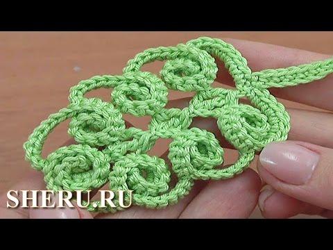 Вязание уроки вязания листьев крючком