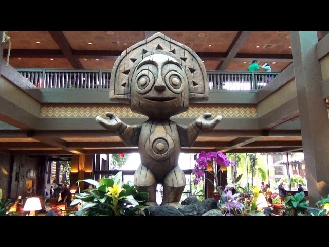 New Tiki Added to Disney's Polynesian Village Resort Lobby Fountain at Walt Disney World