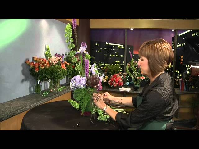 Vertical Arrangement - GWC Floral Design with Gail Call AIFD