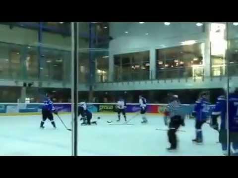 John Searson (NOT) vs Stian Naylor (GRI) Hockey Fight 14/6/2013