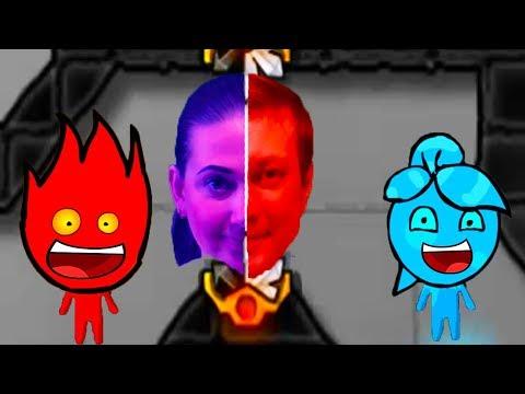 ПРИКЛЮЧЕНИЯ ОГОНЬ и ВОДА в ХРУСТАЛЬНОМ ХРАМЕ #2 Развлекательное видео для детей Игровой мультик