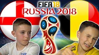 WORLD CUP 2018   ENGLAND VS BELGIUM   FIFA 18 SCORE PREDICTOR!