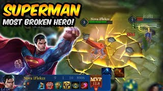 HOW TO CARRY WITH SUPERMAN | MOST BROKEN HERO IN THE GAME! | ARENA OF VALOR