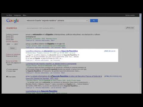 Cómo funciona Google Académico
