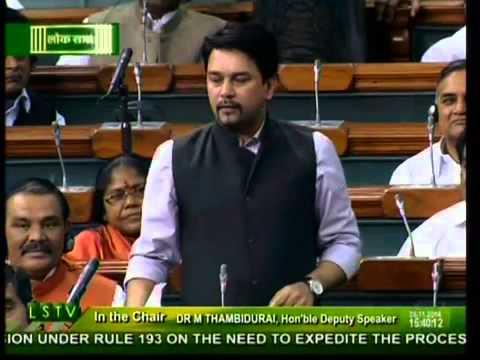 Anurag Thakur takes dig at Mamata in LS speech, TMC MPs get agitated