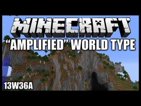 Minecraft Snapshot 13w36a New Amplified World Type INSANELY Awesome Terrain