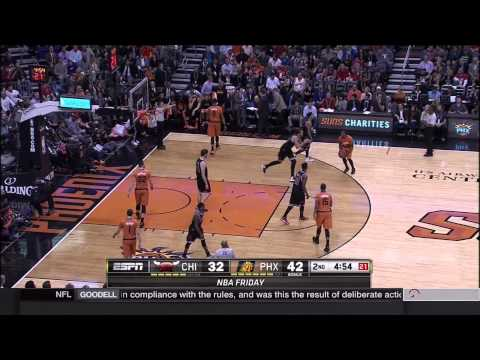 Derrick Rose to Jimmy Butler half-court alley-oop dunk: Chicago Bulls at Phoenix Suns