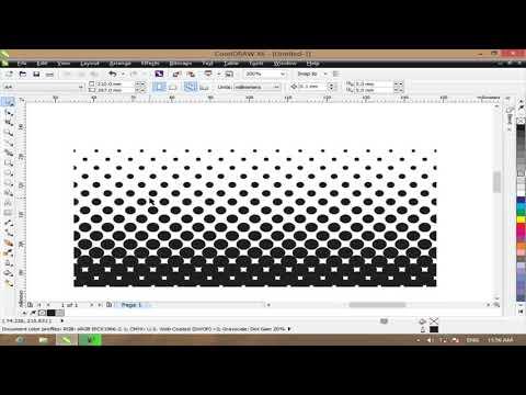 Cara Membuat Efek Halftone dengan CorelDraw