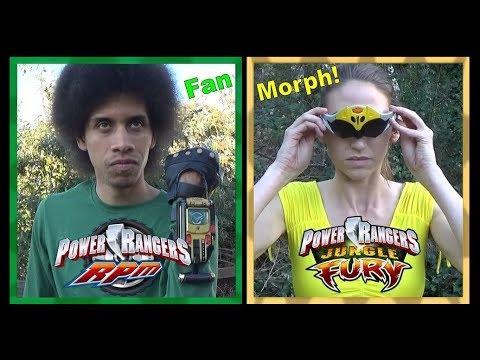 RPM Green & Jungle Fury Yellow (Power Rangers Fan Morph) *Retro Style / No VFX*