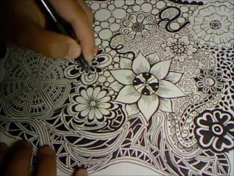 Flower Drawings Step By Step