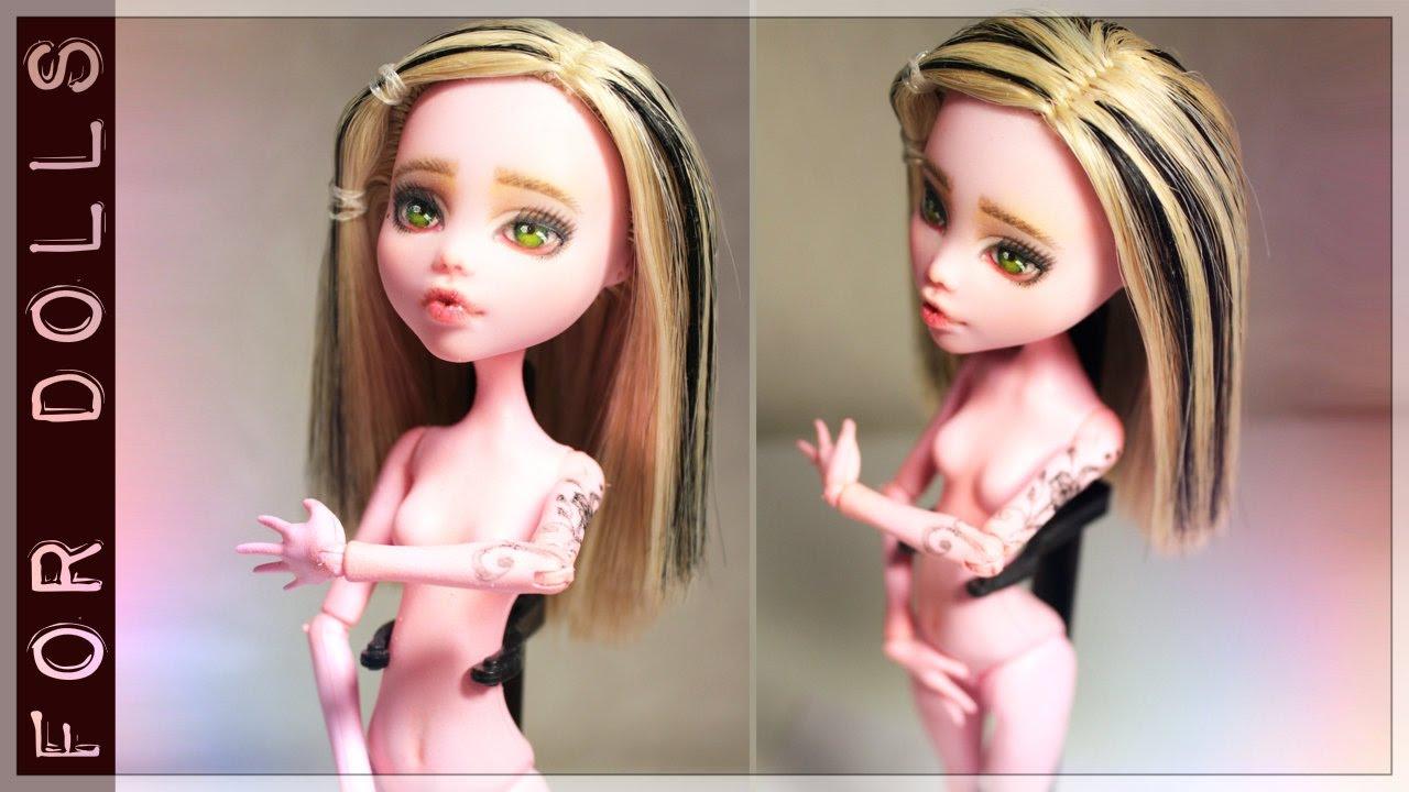 Как сделать куклу монстр хай из кукол 938