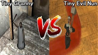 Granny vs Evil Nun || Tiny Mod Battle || Horror Game - 미니 그래니 vs 미니 미친수녀 배틀