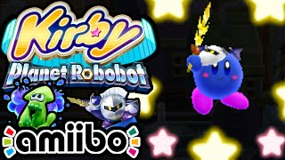 Kirby Planet Robobot PART 5 - 3DS Gameplay Walkthrough - Meta Knight amiibo Sword! NEW Poison Copy