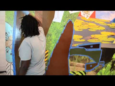 Mickalene Thomas faux real at the Norton Museum of Art