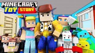 ON S'ÉCHAPPE DE LA MAISON DE TOY STORY 4 AVEC TOUS LES JOUETS ! Roleplay Minecraft Toy Story 4