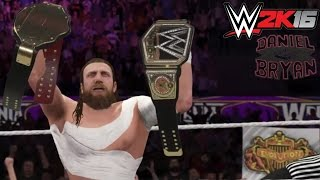 WWE 2K16-15 Top 5 Biggest victories of Daniel Bryan! (WWE Career)