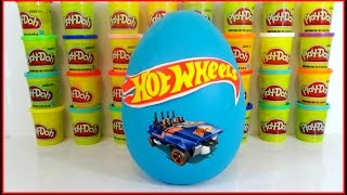 HOT WHEELS Play-Doh Surprise Toy Egg with Monster Trucks