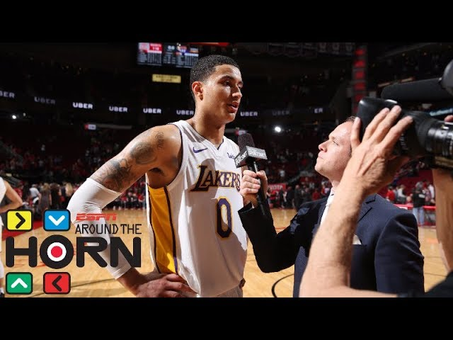 Kyle Kuzma's 38-point game against the Rockets puts NBA on notice | Around the Horn | ESPN