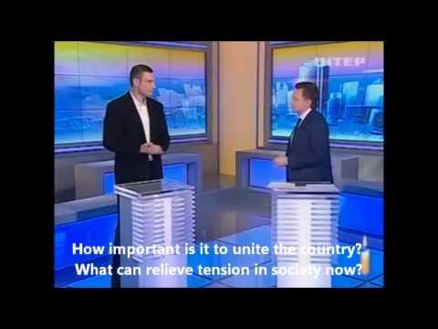 Brainwork of Vitali Klitschko. Live Interview. PRevolution