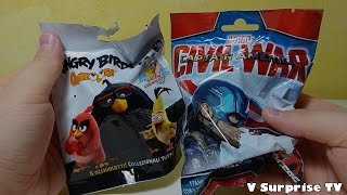 ROVIO Angry Birds Occhiolotti & Marvel Civil War Captain america | blind bags edicola 2016 #2