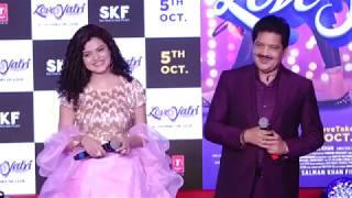 Udit Narayan Palak Mucchal Live Performance Dholida Loveratri Promotions Interview Hd