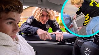 THE WORST COP EVER PULLED US OVER